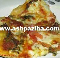 آموزش پیتزای گوشت و اسفناج+انواع پیتزا