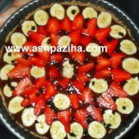 تارت کاکائویی با دو نوع تزیین میوه ای (سری هشتم)
