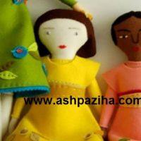 عروسک های نمدی به همراه الگو