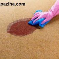 تمیز کردن شربت از روی فرش در نوروز ۹۵