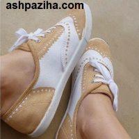 آموزش رنگ کردن کفش کتانی ویژه نوروز ۹۵