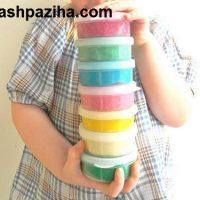 آموزش تصویری ساخت خمیر بازی برای کودکان در خانه