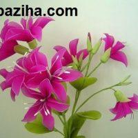 آموزش تصویری ساخت گل های جورابی در تزیینات نوروز ۹۵