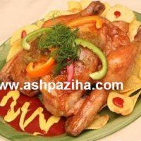 تزیین مرغ سوخاری با سیب زمینی (عید نوروز ۹۵)