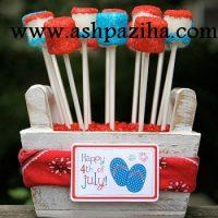 تزیین تولد با تم آبی و قرمز و سفید