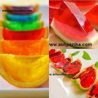 آموزش تصویری تهیه ژله در انواع پوست میوه با تزیین زیبا