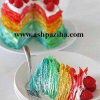 آموزش طرز تهیه کرپ کیک رنگین کمانی ویژه کودکان