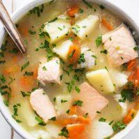 سوپ فیله ماهی
