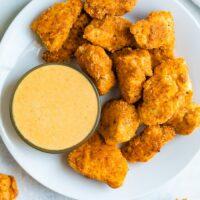 طرز تهیه ناگت مرغ همراه با سس