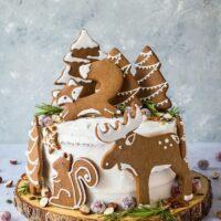 کیک کریسمسی زنجبیلی همراه با نارگیل