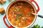 طرز تهیه سوپ سبزیجات خانگی