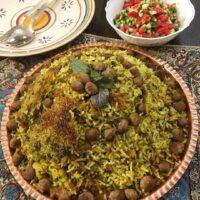 دستور پخت کلم پلو شیرازی خوشمزه