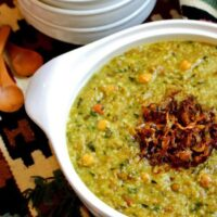 دستور پخت آش سبزی شیرازی سنتی