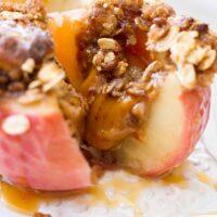 دستور پخت سیب شکم پر پخته شده کاراملی